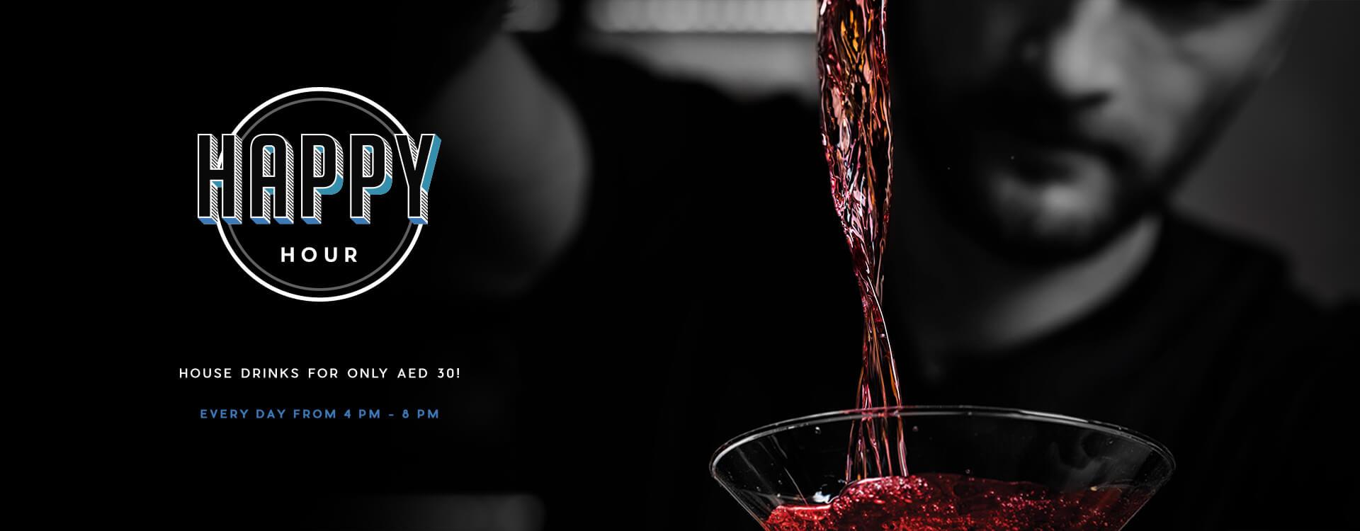 Happy Hour - Distillery Gastropub. After Dark - Banner