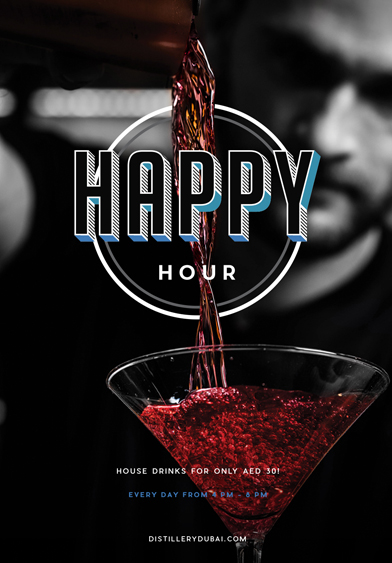Happy Hour - Distillery Gastropub. After Dark