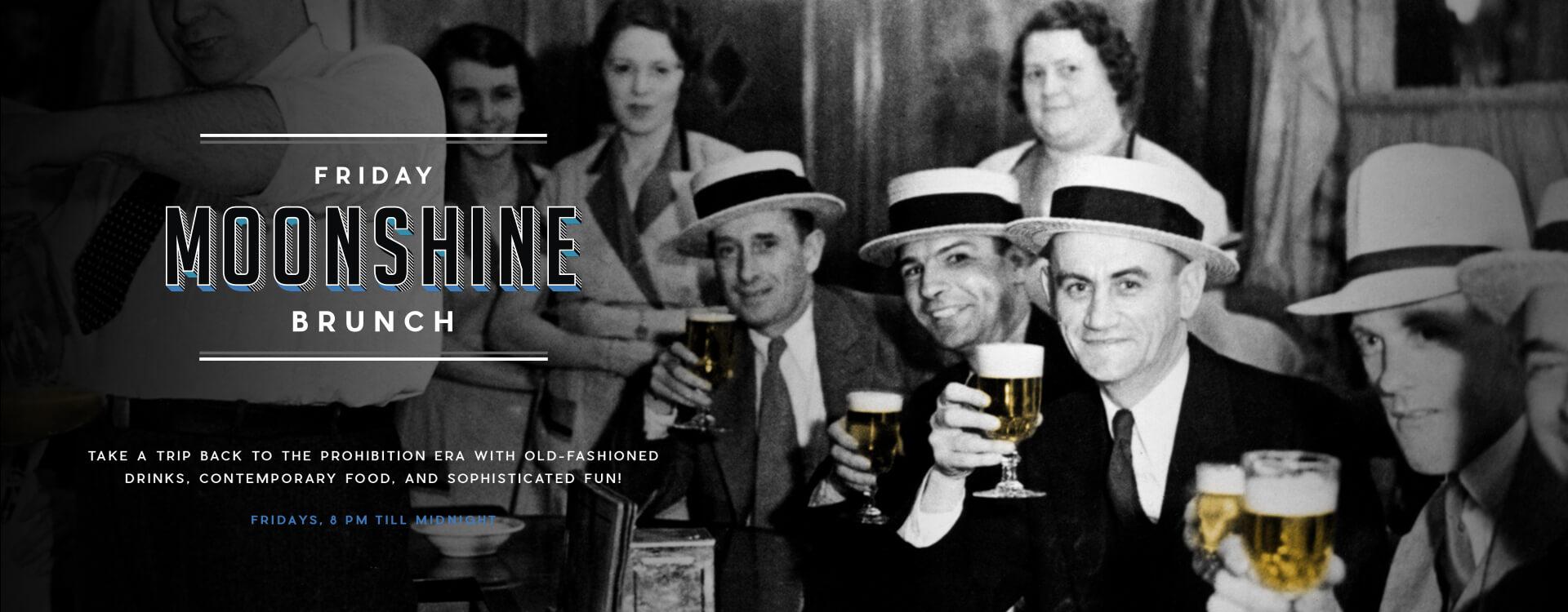 Moonshine Brunch - Distillery Gastropub. After Dark - Banner