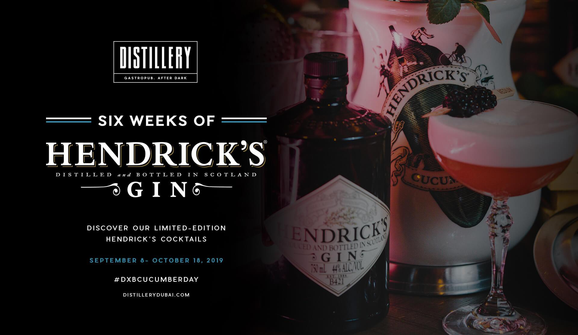 Six Weeks of Hendrick's Gin