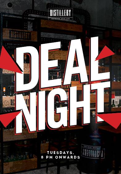Deal Night - Distillery Gastropub. Afterdark