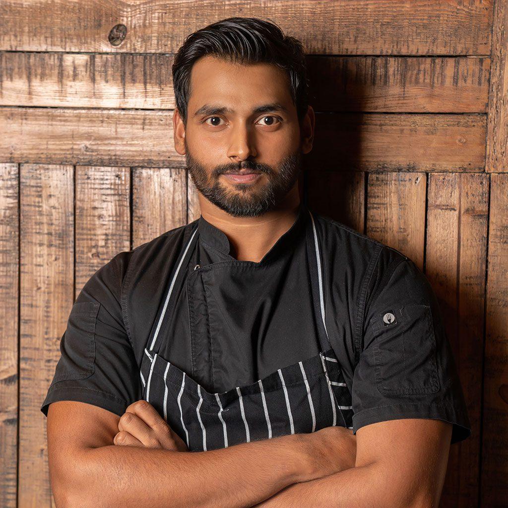 Chef Aman at Distillery